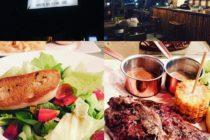 ジンバランの「happy cow」美味しいビーフが食べられるお店です味は間違いないですよ!サラダの別添のドレッシングがゆず風味でもりもりいけます予算一人10万ルピア~#バリ島 #bali #バリ島ガイド