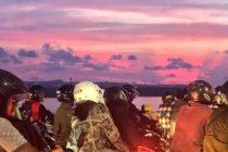 バリ島名物雨季の美しすぎる夕焼けとバイク渋滞#bali #バリ島 #バリ
